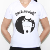 Coffee!!! - Camiseta gran calidad Fruit of the loom